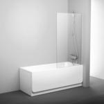 Шторка на ванну Ravak Pivot PVS1-80 прозрачная, белый (79840100Z1)