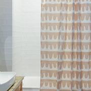 Штора для ванной Tkano popple цвета пыльной розы cuts&pieces, 180х200 см
