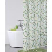 *Штора для ванной комнаты IDDIS 200х200см, полиэстер, Flower Lace, green 412P20RI11