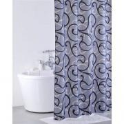 *Штора для ванной комнаты IDDIS 200х200см, полиэстер, Flower Lace, grey 410P20RI11