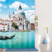 *Штора для ванной комнаты IDDIS 200х180см, полиэстер, Venice moments 540P18Ri11