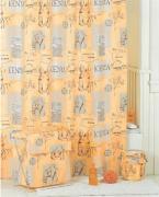*Штора для ванной комнаты IDDIS 200х200см, полиэстер, Kenya SCID110P