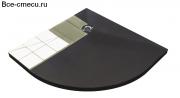 Ruspanel поддон для плитки полукруглый R500/R550 (1000х1000х50мм)
