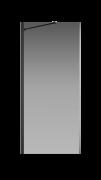 Боковая перегородка Creto Tenta 123-SP-900-C-B-8 стекло прозрачное EASY CLEAN, профиль черный, 90х200 см