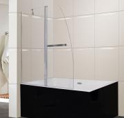 Шторка на ванну Parly F03 (130*120) прозрачное стекло, 5мм, распашная