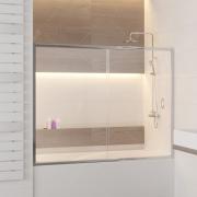 Шторка на ванну RGW SC-62 170*150 Хром/Прозрачное 01116217-11