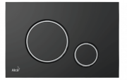 Alcaplast M778 Кнопка управления для скрытых систем инсталляции, чёрный-мат/xром-глянец