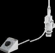 Кнопка смыва на расстоянии AlcaPlast ножное управление, металл, монтаж: в стену