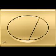 Кнопка смыва AlcaPlast M75 золотая