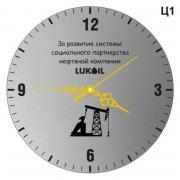 Часы настенные с гравировкой, комплект, 250х3 мм, золотые стрелки Ц1