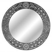 Зеркало в раме Ladoga Circle Black в круглой оправе