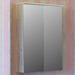 Зеркальный шкаф Sanflor Чикаго 65 дуб крафт белый (C000005817)