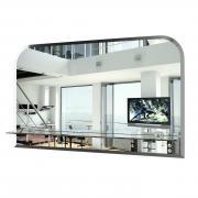 Зеркало с полкой ЕвроЗеркало 040Ф, 80х50 см., с полным фацетом, толщина зеркала 4 мм.