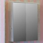 Зеркальный шкаф Sanflor Чикаго 75 дуб крафт белый (C000005829)