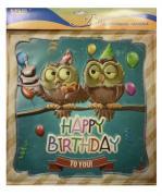 """Наклейка декоративная """"Винтаж. Happy Birthday"""" (30x30 см)"""