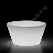 Светящееся кашпо (горшок) Lumb (круглый) 220V White_YM
