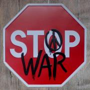 """Декоративная табличка """"Stop war"""""""