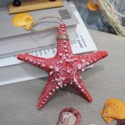 Морская звезда декоративная красная 16 см