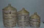 Комплект плетеных корзин из травы каиса 3 шт, CV-5047 S/3