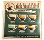 """Наклейка декоративная """"Винтаж. 10 Drink a Coffee"""" (30x30 см)"""