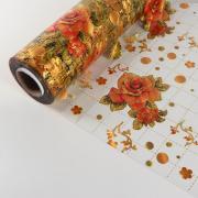 Термоплёнка ПВХ «Цветочная композиция», ширина 80 см, толщина 0,6 мм, рулон 20 метров