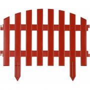 Декоративный забор grinda ар деко 28x300 см терракот 422203-t