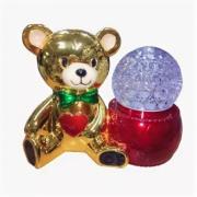 Светодиодная лампа на подставке Мишка (Золотая)