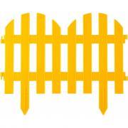 Декоративный забор grinda палисадник 28x300 см желтый 422205-y