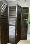 Ширма деревянная жалюзийная 180*40 см, Венге - 3 створки, Венге, Производитель: Декор