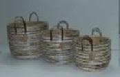 Комплект плетеных корзин из травы каиса 3 шт, CV-5050 S/3