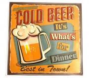 "Наклейка декоративная ""Винтаж. Cold Beer"" (30x30 см)"