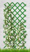 Шпалера ПВХ для вьющихся растений; зеленая, 3*1 м