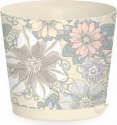 Горшок для цветов Easy Grow D160мм с системой прикорневого полива 2л с декором (Цветочный дом)