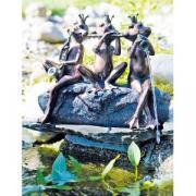"""Фигура для фонтана Heissner """"Лягушачий ансамбль"""", длина 40 cм (цвет под медь) Heissner Фигура-фонтан"""