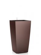 Кашпо (вазон) Lechuza (Лечуза) Cubico 22 кофе металлик