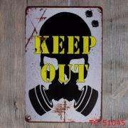 """Декоративная табличка """"Keep out"""""""