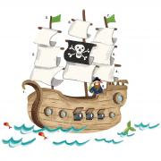 Пиратский корабль набор наклеек ROOMMATES RMK2042SLM