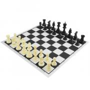 Набор шахматных фигур, пластик 9,5см