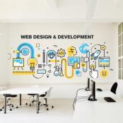 Многоцветная наклейка «Веб дизайн»
