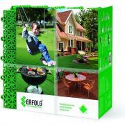 Универсальное садовое пластиковое покрытие / садовая плитка , 330 х 330 мм, зеленое, 8шт