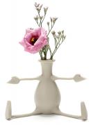 Ваза для цветов с гибкими ручками Florino серая Peleg Design