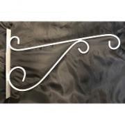 Крюк для подвесных кашпо металлический белый М0000219