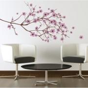 Одноцветная наклейка «Апрельская сакура»