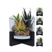 Растение искусственное в стакане Home Collection Bamboo Paradise Бамбуковый Рай 13х13х14 см 1 шт
