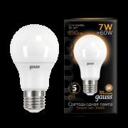 Лампа светодиодная Gauss LED A60 E27 7W 680lm 3000K (102502107)