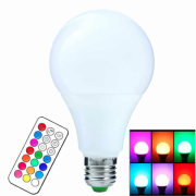 Светодиодная лампочка RGB с пультом дистанционного управления 65х115 мм