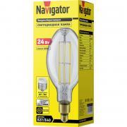 Светодиодная лампа высокой мощности Navigator 14 340 NLL-ED120-24-230-840-Е27-CL (с переходником на E40)