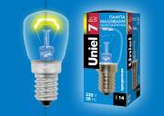 Uniel Il-F25-Cl-07/E14 Лампа накаливания, мощность 7Вт. Картонная упаковка