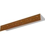 Карниз потолочный пластиковый DDA Прямой Овация трехрядный орех 2.8
