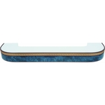 Карниз потолочный пластиковый DDA Поворот Греция трехрядный синий 2.6